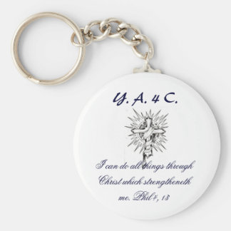 2429504379_378fdcb353, Y. A. 4 C., I can do all... Basic Round Button Keychain