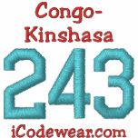 243 Congo-Kinshasa Sudadera Bordada Con Capucha