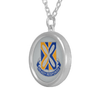 244th Aviation Regiment - Ready Response Silver Plated Necklace