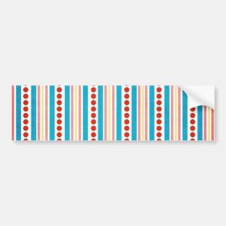 245_shellfish-paper-stripes STRIPES RED BLUE PINK Bumper Sticker