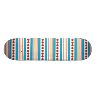 245_shellfish-paper-stripes STRIPES RED BLUE PINK Skateboard