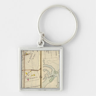 246247 Rye Silver-Colored Square Keychain