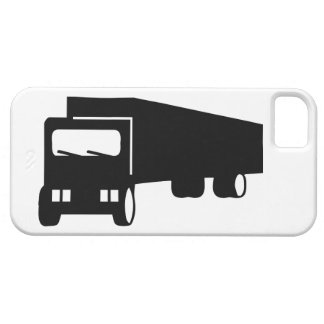 2475 Silhouettes  BLACK BIG RIG TRUCK GROUND TRANS iPhone 5 Covers