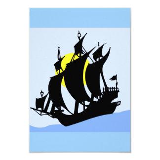 2475 Silhouettes  BLACK BIG RIG TRUCK GROUND TRANS 3.5x5 Paper Invitation Card