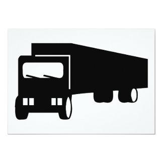 2475 Silhouettes  BLACK BIG RIG TRUCK GROUND TRANS 5x7 Paper Invitation Card