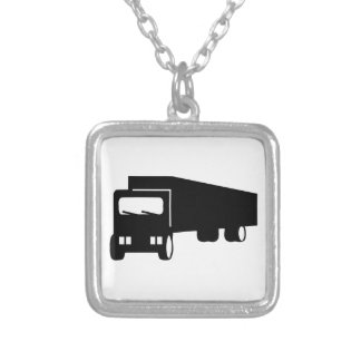 2475 Silhouettes  BLACK BIG RIG TRUCK GROUND TRANS Pendants