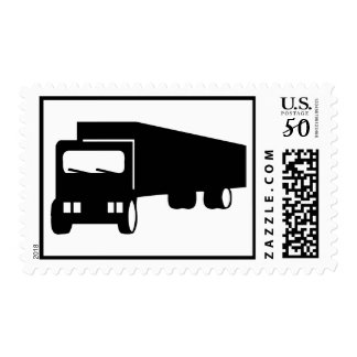 2475 Silhouettes  BLACK BIG RIG TRUCK GROUND TRANS Postage
