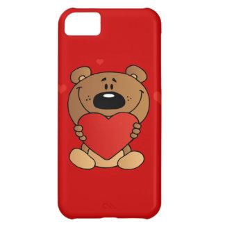 2488 TEDDYBEAR TEDDY BEAR HOLDING RED HEART LOVE C CASE FOR iPhone 5C