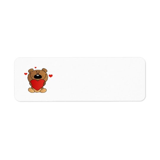 2488 TEDDYBEAR TEDDY BEAR HOLDING RED HEART LOVE C LABEL