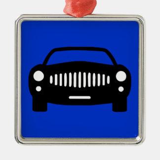 2491 BLACK CAR SILHOUETTE GROUND TRANSPORTATION RA ORNAMENT