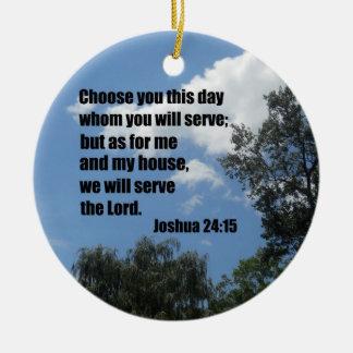 24:15 de Joshua Ornamentos De Navidad