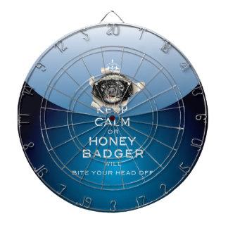 [24.1] Keep Calm or Honey Badger… Dart Board