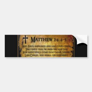 24:4 de Matthew - pegatina para el parachoques 5 Pegatina Para Auto