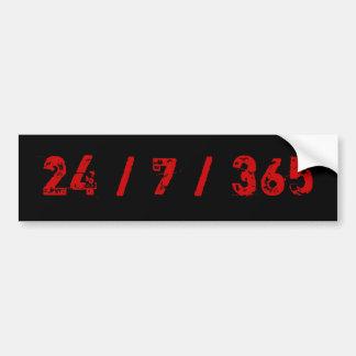 24 / 7 / 365 Firefighter's Life Bumper Sticker