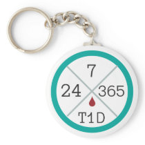24/7/365 T1D Life Keychain