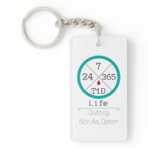24/7/365 T1D Life rectangle keychain