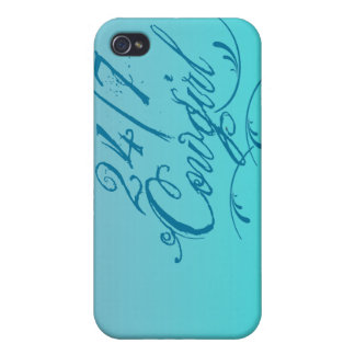 24 7 Cowgirl iPhone 4 4S Hard Shell Case Cover For iPhone 4