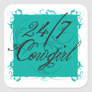 24/7 Cowgirl Sticker