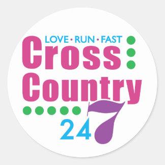 24/7 Cross Country Classic Round Sticker