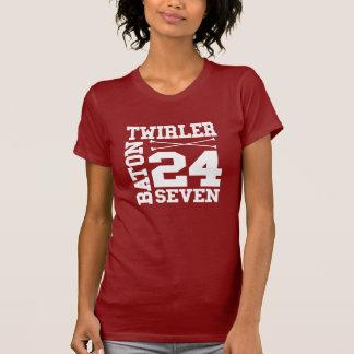 24:7 del Twirler de bastón Camiseta