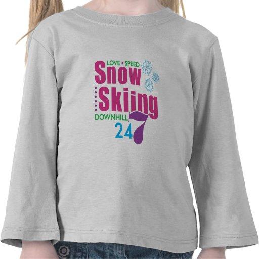 24/7 esquí de la nieve camiseta