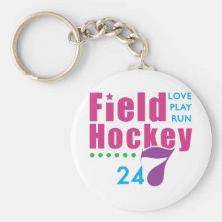 24/7 Field Hockey Keychain