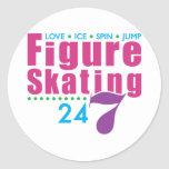 24/7 Figure Skating Classic Round Sticker