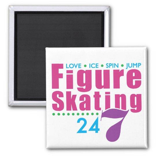 24/7 Figure Skating Magnet