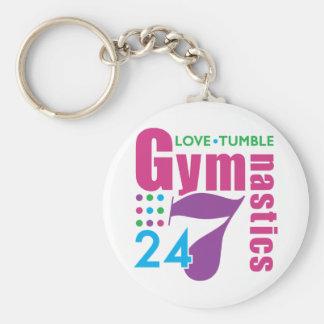 24/7 Gymnastics Keychain