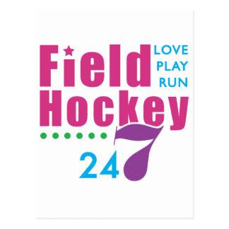 24/7 hockey hierba tarjetas postales