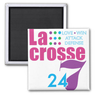 24/7 Lacrosse 2 Inch Square Magnet