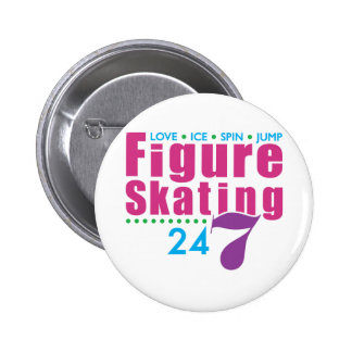 24/7 patinaje artístico pin
