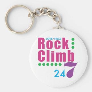 24/7 Rock Climb Basic Round Button Keychain