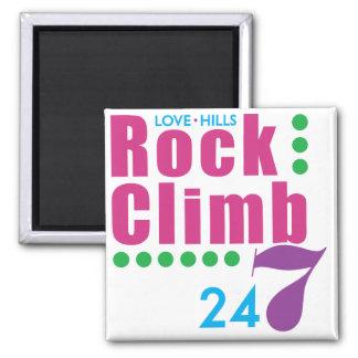 24/7 Rock Climb 2 Inch Square Magnet