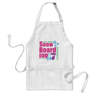 24/7 Snow Boarding Adult Apron