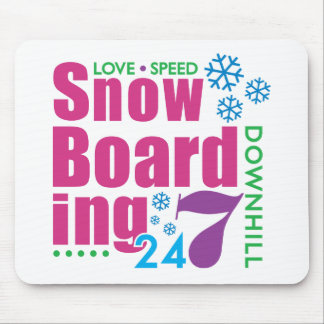 24/7 Snow Boarding Mouse Pad
