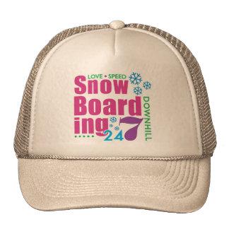 24/7 Snow Boarding Trucker Hat