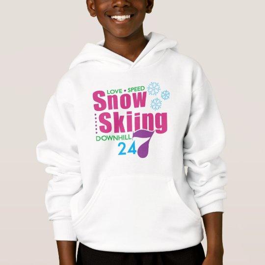 24/7 Snow Skiing Hoodie