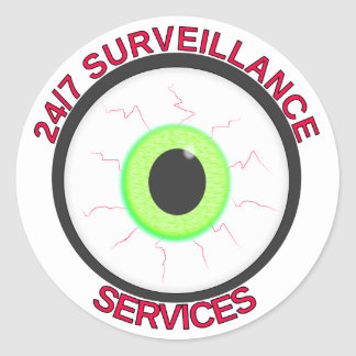24/7 Surveillance Services Classic Round Sticker