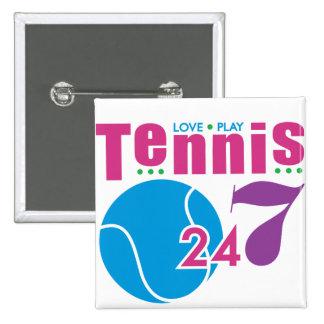 24/7 tenis pin cuadrado