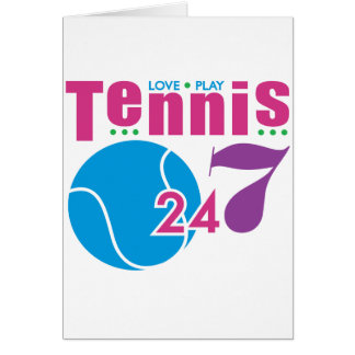 24 7 Tennis Greeting Cards