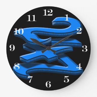 24 7 -  Twenty-Four Seven - Blue Text Wall Clock