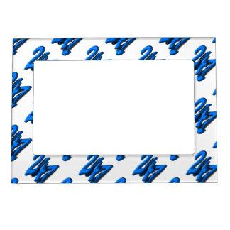 24 7 - Twenty-Four Seven - Blue Text Magnetic Frames
