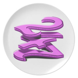 24 7 -  Twenty-Four Seven -  Pink Text Plate