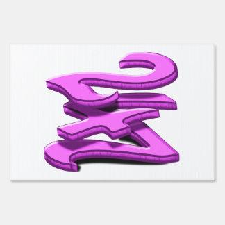 24 7 -  Twenty-Four Seven -  Pink Text Signs