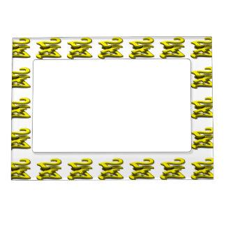 24 7 - Twenty-Four Seven - Yellow Text Photo Frame Magnet