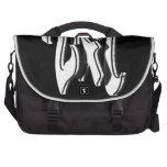 24 7 - veinticuatro siete - negro y blanco bolsa de ordenador