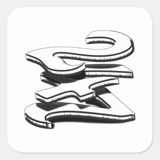 24 7 - veinticuatro siete - negro y blanco pegatina cuadradas personalizada