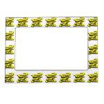 24 7 - veinticuatro siete - texto amarillo marcos magnéticos de fotos