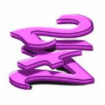 24 7 - veinticuatro siete - texto rosado esculturas fotograficas